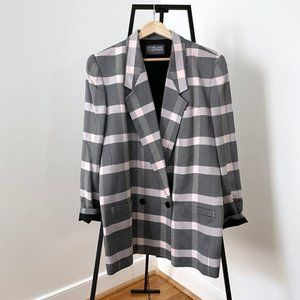 Vintage Glen Plaid Double Breasted Blazer